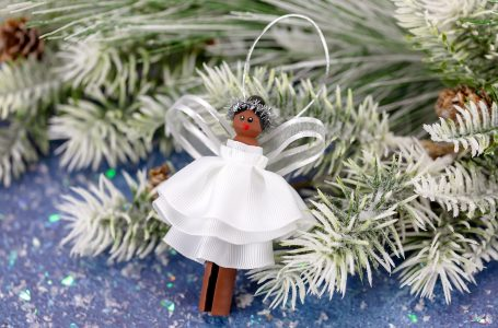 DIY Clothespin Angel Ornament For Christmas Tree.