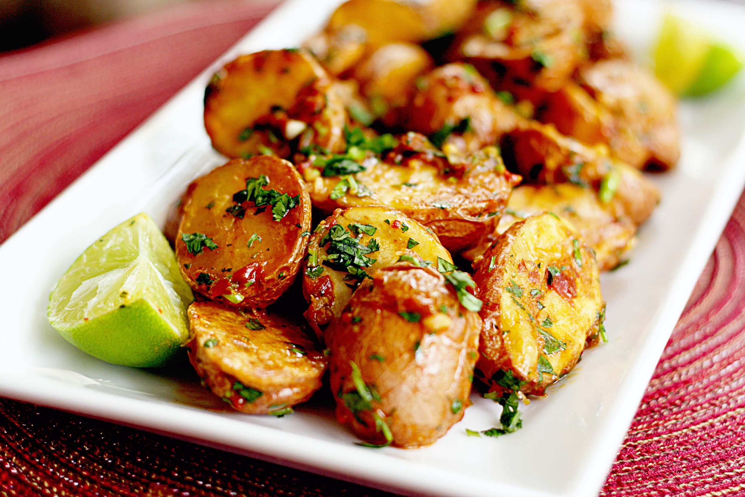 Loaded Roasted Potatoes With Bacon And Avocado Sauce Recipe.